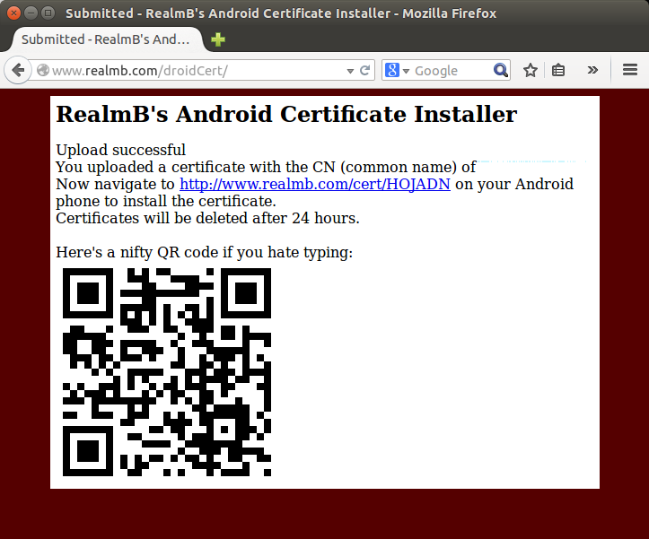 Install Burp CA certificate on Android Emulator |
